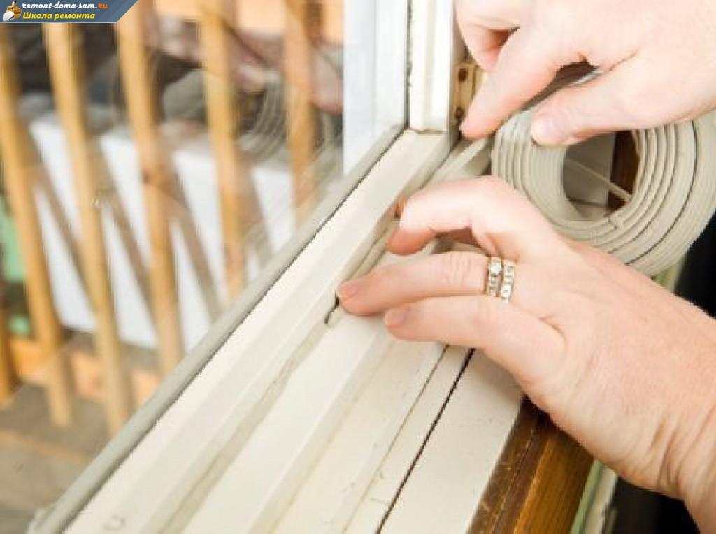 Утепление деревянной балконной двери..