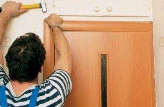 Простой способ установки наличников на двери