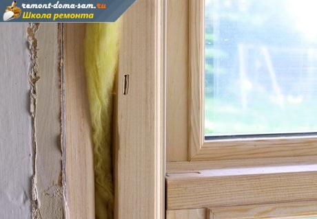 Как утеплить окна ватой