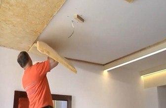 Установка шумоизоляции под натяжной потолок— что может быть проще?